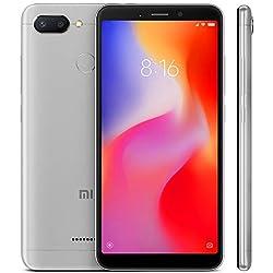 """Xiaomi Redmi 6 - Smartphone de 5.45"""" (Octa-Core 2.0 GHz Cortex-A53, RAM de 3 GB, Memoria de 32 GB, cámara de 12 MP, Android) Color Gris [Versión española]"""