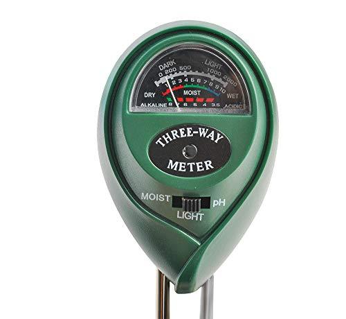 Iso Trade Bodenmessgerät PH Saurer 3 in 1 Bodentester PH Wert Messgerät Feuchtigkeitsmesser Licht Indoor & Outdoor 8690