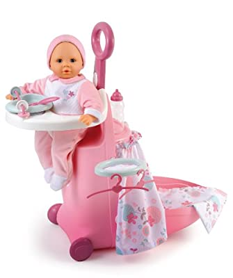 Smoby 24032 - Baby Nurse: maletín con accesorios para bebé de juguete, color rosa y blanco por Smoby