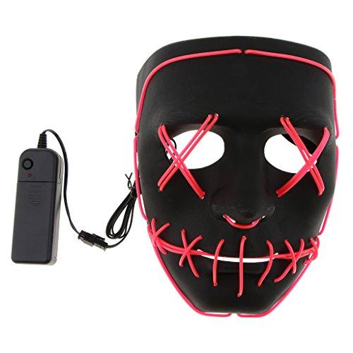 Homyl LED Licht Leucht Maske Halloween Cospkay Kontrollmaske -