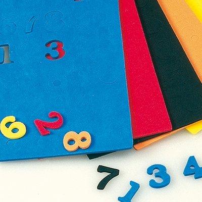EFCO Schaumstoff Gummi gemischt Zahlen