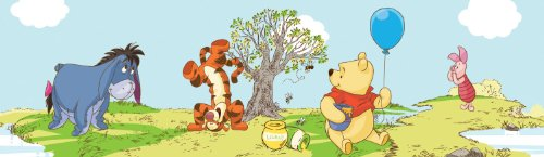 Polypropylene-Bordüre 'Pooh a bother free day' Kollektion kids@homeIII