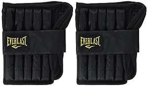 Everlast Adjustable Ankle Weights - 2 x 5lb, Black