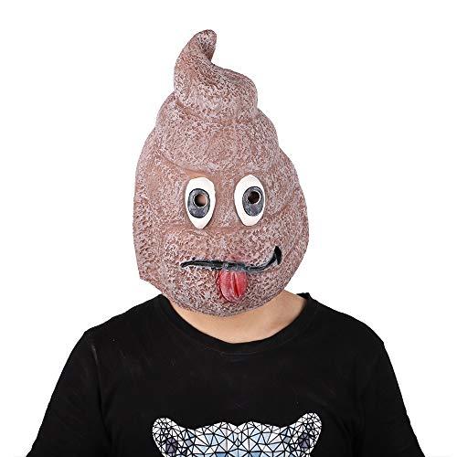 Für Zombie Kostüm Bananen Erwachsenen - QAZXSW Horror Ghost Doppelseitiger Blauer Kopf Corn Head Hexe Gasmaske Lustige Banane Alien Maske Halloween Weihnachten Latex Maske Kostüm Maskerade Party Requisiten Maske Cosplay MaskeJ6