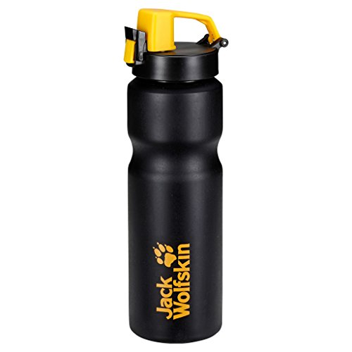 Jack Wolfskin Trinkflasche Sport Bottle Grip 0.75, Black, One size, 8001401-6000 (Flasche Frühjahr)