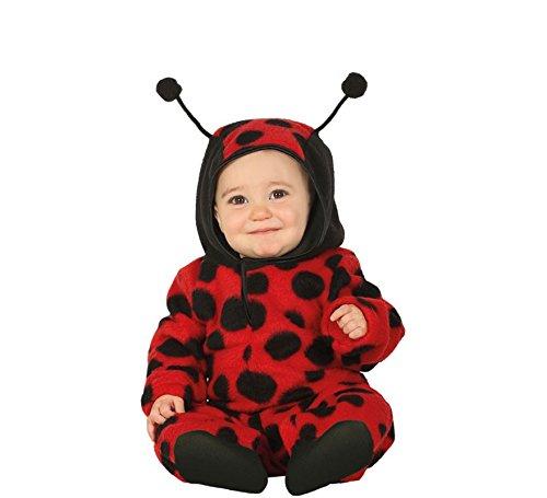 Baby Tierkostüm - Fiesta Guirca Käferkostüm für Kleinkinder Marienkäfer Tier-Verkleidung schwarz-rot 92 (1-2 Jahre)