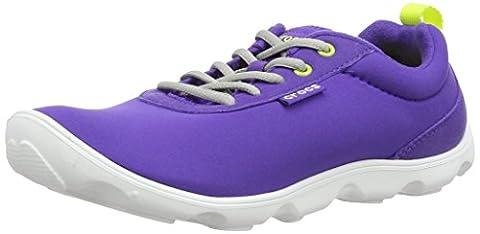 Crocs Duet Busy Day Lace-up W, Damen Sneaker , Violett - Ultra Violet/White - Größe: UK 3 / US W5