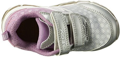 Geox  J ANDROID GIRL B, Sneakers Basses fille Argent (Silver/lt Lilacc1285)