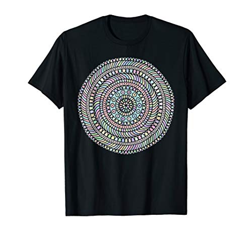 Trippy Psychedelic Shipibo Tribal Design T-Shirt