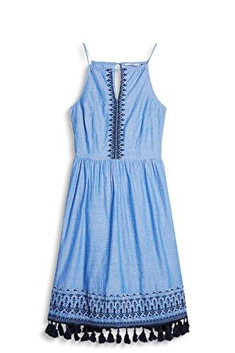 edc by ESPRIT Damen Kleid 067cc1e021 Blau (Light Blue 440)