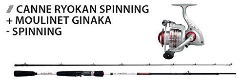 Gemeinsam Spinning Kescher Raubfischkescher Sakura Gehstock Ryokan 6'3und Angelrolle ginaka 2007F