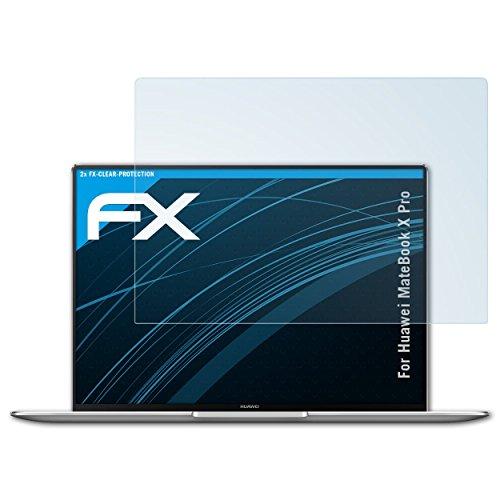 atFolix Schutzfolie kompatibel mit Huawei MateBook X Pro Folie, ultraklare FX Bildschirmschutzfolie (2X)