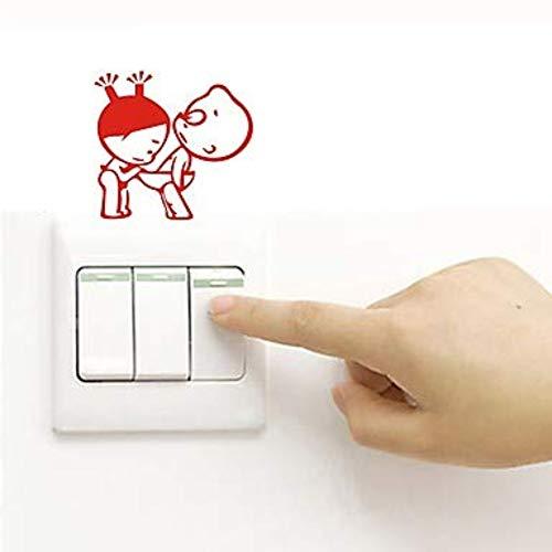 Custom Wall Sticker Light Switch Stickers Fridge Stickers Toilet Stickers - Plane Wall Stickers Abstract Removable 11X12Cm