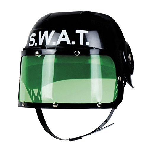 Boland 01392 Kinderhelm S.W.A.T, unisex-child, One - Kinder Agenten Kostüm