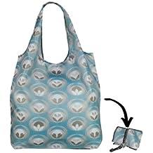 Re-uz Lifestyle bolsa plegable bolsa de la compra reutilizable, diseño de flores Tela