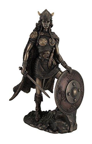 Viking schildmaid Bronze Finish Statue nordischen Mythologie -