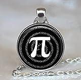 Pi Pendentif, pendentif Math, Math Cadeau Geek, Math Teacher Cadeau Bijoux, Pi, Pi Collier, Math Student Cadeau, mathématiques