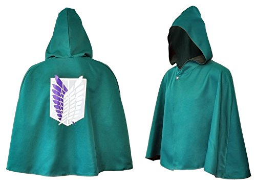 CoolChange Attack on Titan Umhang Aufklärungstrupp Cosplay Shingeki no Kyojin Cape (L) (Attack On Titan Kostüm Cape)