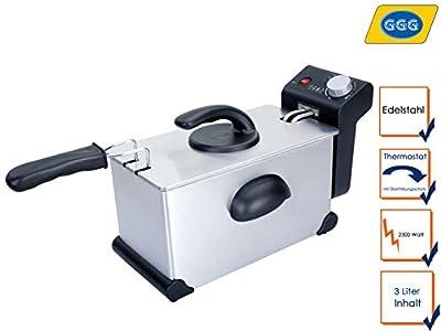 Friteuse professionnelle en acier inoxydable électrique, 2300W, 3l, protection contre la surchauffe, zones froid-SD 03single GGG