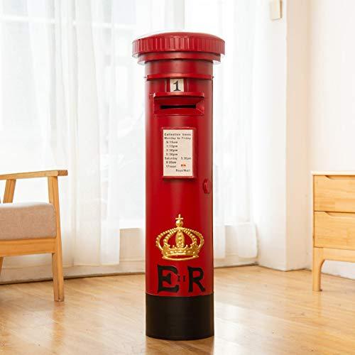 Zyhoue Spardosen-Sparschwein Pfand Topf Papier Geld Depot Box Erwachsene Können Wünschenswerte Eisen Kunst Retro Briefkasten Ornament Kreativ Sparen 60cm Rot