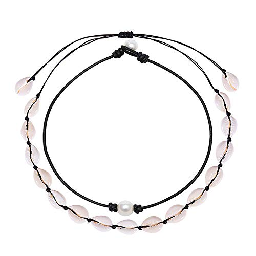 Pearl Choker - Natural Shell Choker Halsketten für Frauen