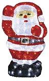 LED Weihnachtsmann Acryl Kristall Eis mit 80 LED beleuchtet crystal santa