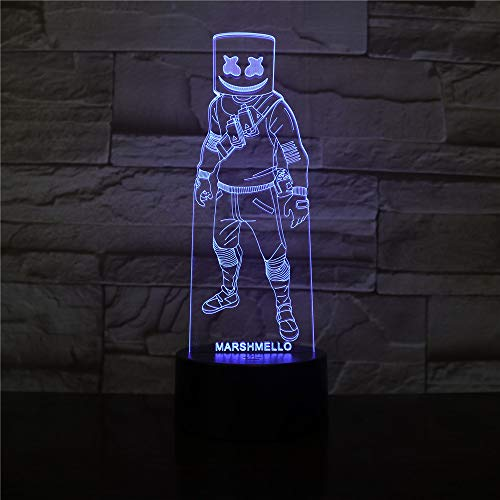 �r Kinder / 3d Illusion Nachtlicht / 3d Schreibtischlampe / 7 / Weihnachten/Halloween/Geburtstagsgeschenk/Marshmallow ()