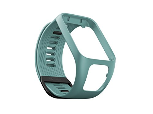 TomTom Wechselarmband für TomTom Spark 3 / Spark / Runner 3 / Runner 2 GPS-Uhren, Aqua, Größe L