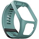 TomTom - Bracelet pour Montre TomTom Runner 3, Spark 3, Runner 2 & Spark Taille Large Vert d'Eau (ref. 9UR0.000.04)