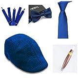 thematys® Sombrero mafioso Al Capone + Pajarita + Tirantes + Corbata + Cigarro - Disfraz de los años 20 para Dama y Caballero Carnaval (5)