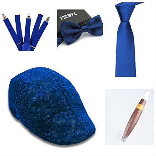 thematys Al Capone Mafia Gangster Hut + Fliege + Krawatte + Hosenträger + Zigarre - 20er Jahre Kostüm-Set für Damen & Herren - perfekt für Fasching & Karneval (5)
