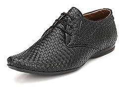 John Karsun Mens Black Derby Shoes - 6 UK