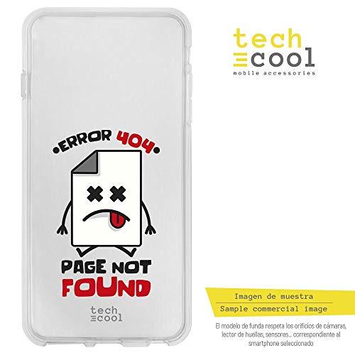 2 Hülle SchutzHülle Soft TPU Silikon Transparent für Wiko Jerry 2 l Case, Cover, Handy, High Definition Druck [Frase Error 404 transparente] ()