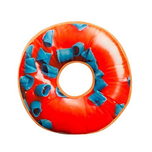 Martinad Kissenbezug Donut Kissen Decken Pp Baumwolle Gefüllte Kissenbezug Seat Unikat Pad Cover Spielzeug(40 X 40X12Cm) (A) (Color : K, Size : Size) (Donut-sitzkissen, Decken)