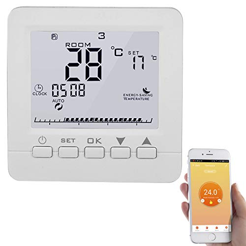 revolt Raumthermostat: WLAN-Thermostat für Fußbodenheizung, komp. zu Alexa & Google Assistant (Wandthermostat)