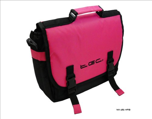 Hot Pink & Schwarz Messenger Style Tragetasche 4 HP TouchPad Tablet & Cover