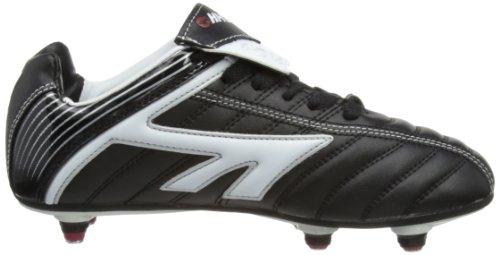 Hi-tec League Si, Chaussures de Football Garçon Noir (black/white/red)