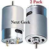 NextGeek 12 Volt Multipurpose Brushed DC Motor for DIY applications PCB Drill - Pack of 2