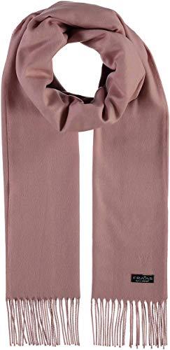 FRAAS Schal aus Cashmink für Damen & Herren - weicher als Kaschmir - Made in Germany - XXL-Schal für den Winter - Fransen-Schal in Uni-Farben Hellrosa