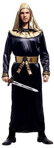 Inception Pro Infinite Einheitsgröße - Kostüm - Verkleidung - Karneval - Halloween - Priester - Ägyptisch - Ethnisch - Ägyptisch - Schwarz - Erwachsene - Mann - Junge (Halloween-kostüm Mannes ägyptischen)
