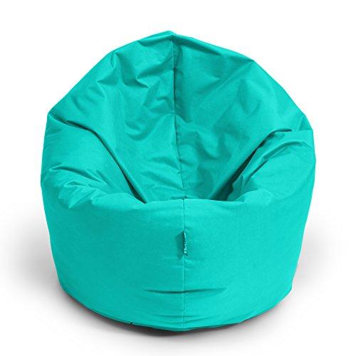 Sitzsack BuBiBag 2-in-1 100cm durchmesser Funktionen mit Füllung Sitzkissen Bodenkissen Kissen Sessel BeanBag Joga 30 Farben (türkis)