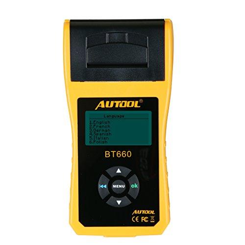 Autotool Testeur/analyseur de batterie de voiture BT66012V/24V Testeur de conductance, outils de diagnostic automobile pour poids-lourds, camions légers, voitures.
