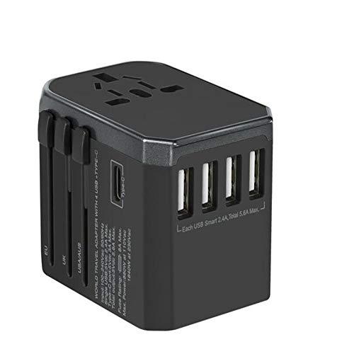 DiaoZhaTian Reisestecker-Adapter USB-Netzstecker USA Die meisten EU-Länder Europas Spanien Sicher geerdet Perfekt für Handys Laptops Kamera-Ladegeräte (Elektrische Konverter Für Irland)