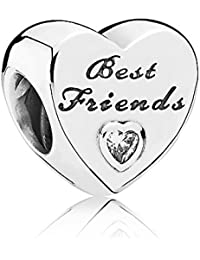 Pandora Women's 9 k Silver Zircon Best Friends Charm