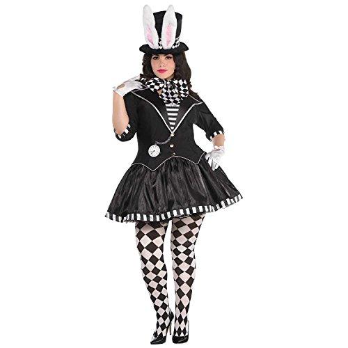 Rabbit Kostüm Mad - Dark Mad Hatter Ladies 18-20