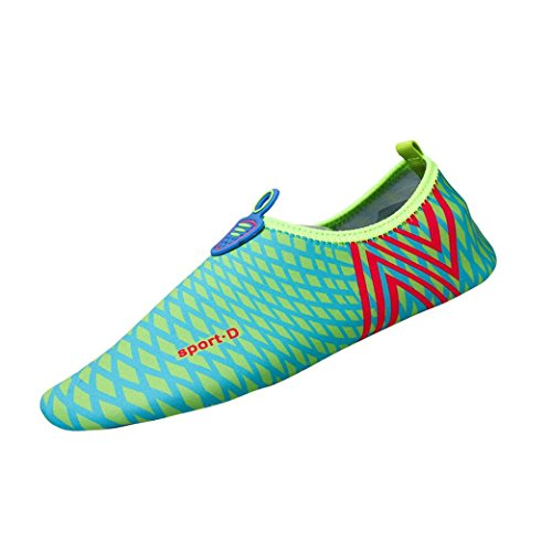 JIANGFU Paar stellt Fuß Yoga Schuhe Tauchen Schuhe,Männer Frauen Quick-Dry Wasser Aqua Socken Strand Surf Yoga Übung Schuhe (42, DB) (Casual Schuh-komfort Arbeiten Kleid)