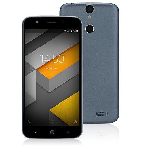 Vernee Thor 5.0 Zoll Android 7.0 4G Smartphone Ohne Vertrag,MTK6753 Octa-Core 3GB RAM 16GB ROM Handy mit 5MP+13MP Kameras,Dual Sim,Fingerabdruck(Grau)