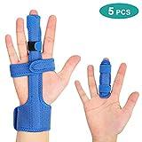Trigger Finger Splint for Broken Fingers, Finger Support Brace Arthritis for Mallet, Small/Little Finger, Adjustable Hand Wrap Straps to straighten Curved, Bent, Locked and Stenosing Tenosynovitis