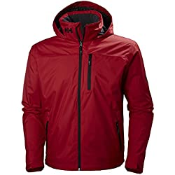 Helly Hansen Crew Hooded Midlayer Chaqueta Impermeable Para Hombre Rojo Small