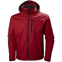 Helly Hansen Crew Hooded Midlayer Jacket - Chaqueta de puente, cálida, para hombre, Hombre, color rojo, tamaño FR : L (Taille Fabricant : L)